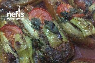 Közlenmiş Patlıcanla Karnıyarık Tarifi