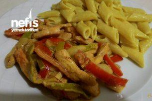 Kremalı Arpacık Soğanlı Tavuk Fajita (Tavuk Dünyası Tadında) Tarifi