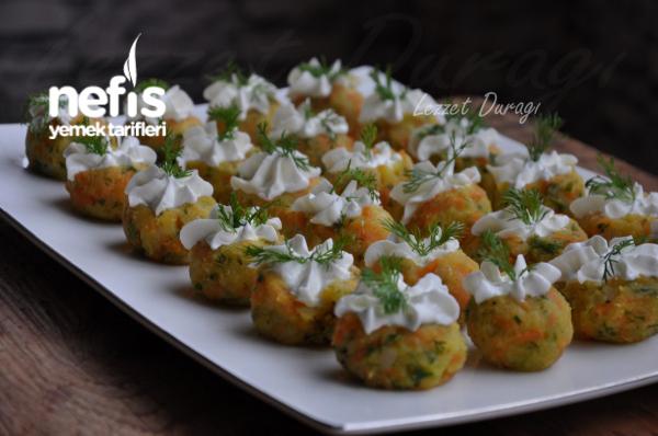 Havuçlu Patates Süzme Yoğurt Süslemeli