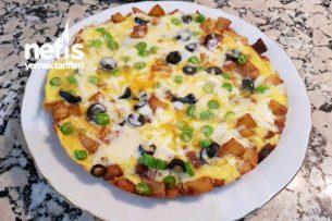 Patatesli Pizza Omlet Tarifi