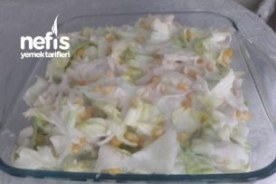 Tavuklu Göbek Salata Tarifi