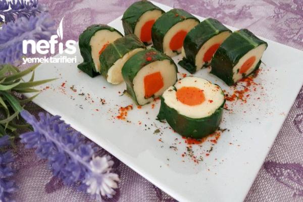 Sushi Görünümünde Patatesli Pazı Sarma Tarifi