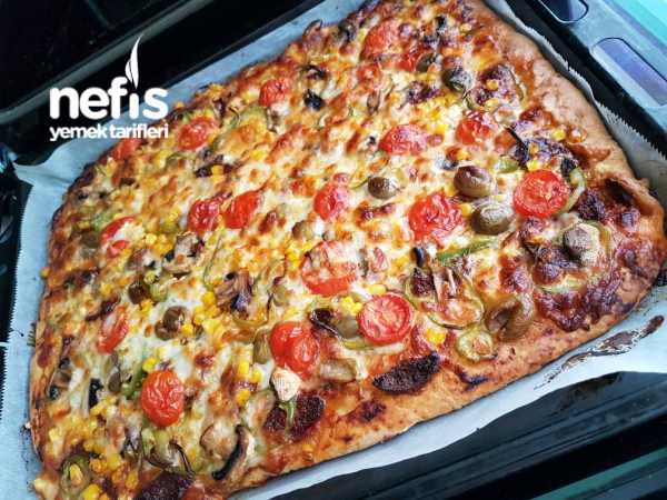 İnstant Maya İle Bol Malzemos Pizza