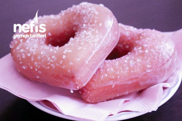 Güllü Kalp Donut Tarifi
