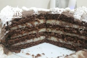 4 Katlı Mini Yaş Pasta (2-3 Kişilik) Tarifi