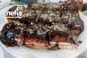 Havuçlu Krem Şantili Bisküvili Pasta Tarifi