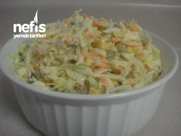 Beyaz Lahana Havuc Salatasi (yedikce Yediren)