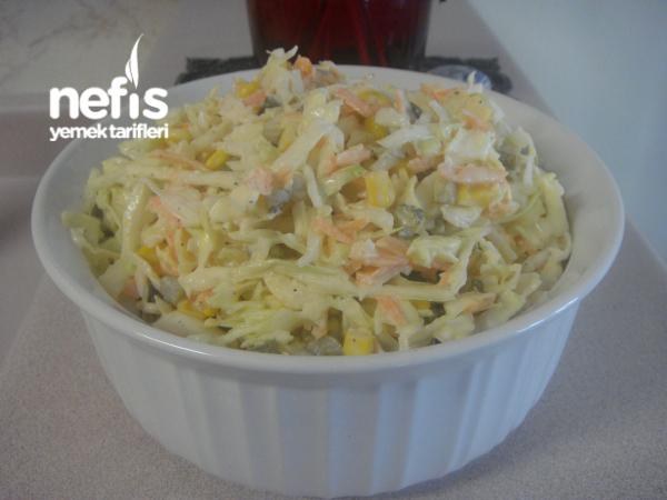 Beyaz Lahana Havuç Salatası (Yedikçe Yediren)
