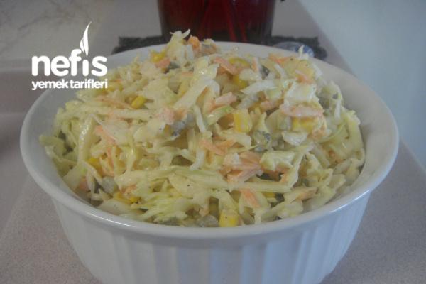 Beyaz Lahana Havuç Salatası (Yedikçe Yediren) Tarifi