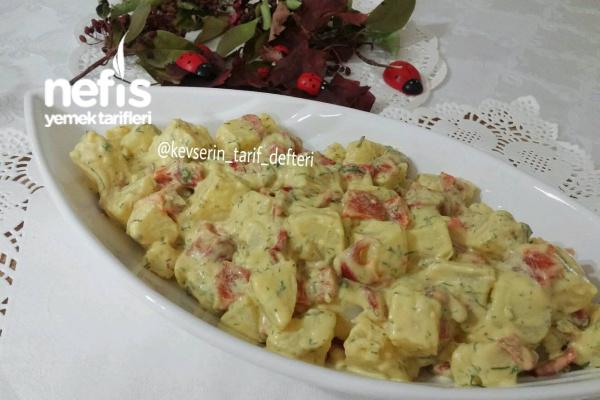 Hardallı Köz Biberli Patates Salatası (Et Tavuk Yanına) Tarifi