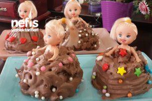 Porsiyonluk Barbie Bebek Pastası Tarifi