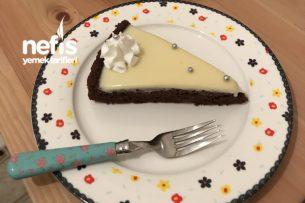 Beyaz Çikolata Ganajlı Tart Kek Tarifi