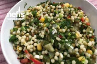 Maş Fasulye Ve Kuskuslu Gün Salatası Tarifi