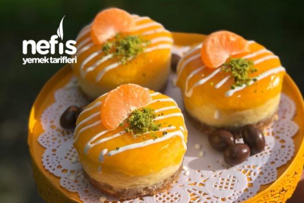 Mandalinalı Mini Cheesecakeler Tarifi