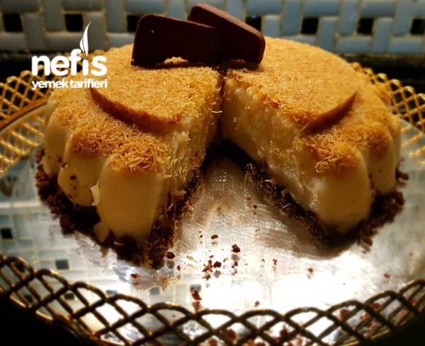 Limonlu Kadayıflı Muhallebi (cheesecake Görünümlü)