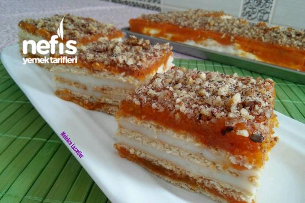 Pratik Balkabaklı Bisküvili Pasta Tarifi