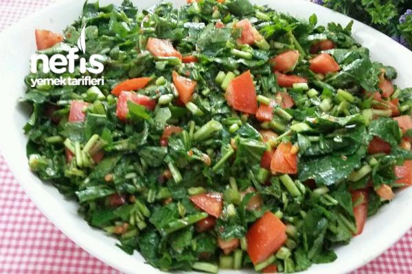 5 Dakikada Nefis Rokalı Kaşık Salatası Yedikçe Yedirten Tarifi