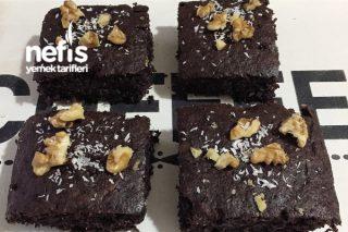 Şekersiz Unsuz Yağsız Diyet Browni Tarifi