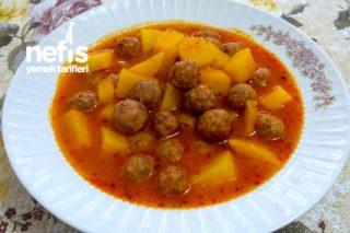 Yemeklere Konulan Misket Köftenin Yapılışı (Patatesli Misket Köfte) Tarifi