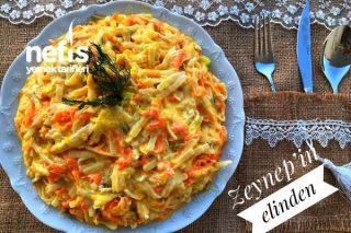 Sebzeli Tavuklu Erişte Salatası Tarifi