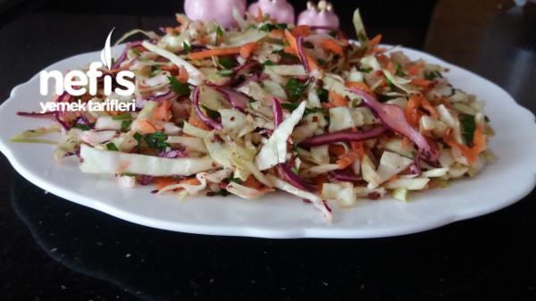 Beyaz Lahanalı Kış Salatası