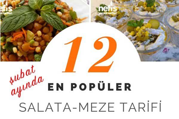 En Beğenilen 12 Salata ve Meze Tarifi – Şubat 2018