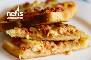 Pratik ve Leziz Ekmek Pizzası (videolu) Tarifi