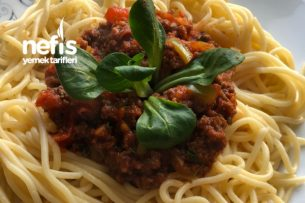 Süper Soslu Spaghetti Tarifi