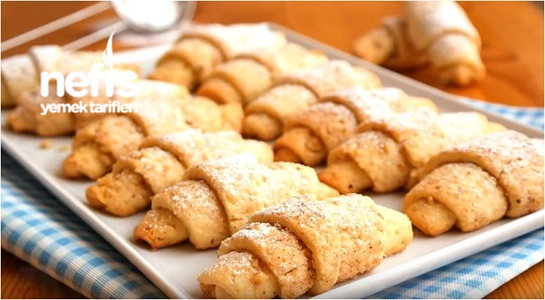 Cevizli Tarçınlı Rulo kurabiye