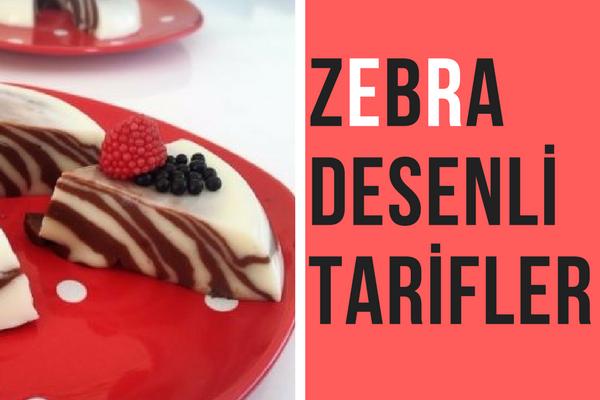 Zebra Deseni ile Çift Renkli 10 Tarif Tarifi