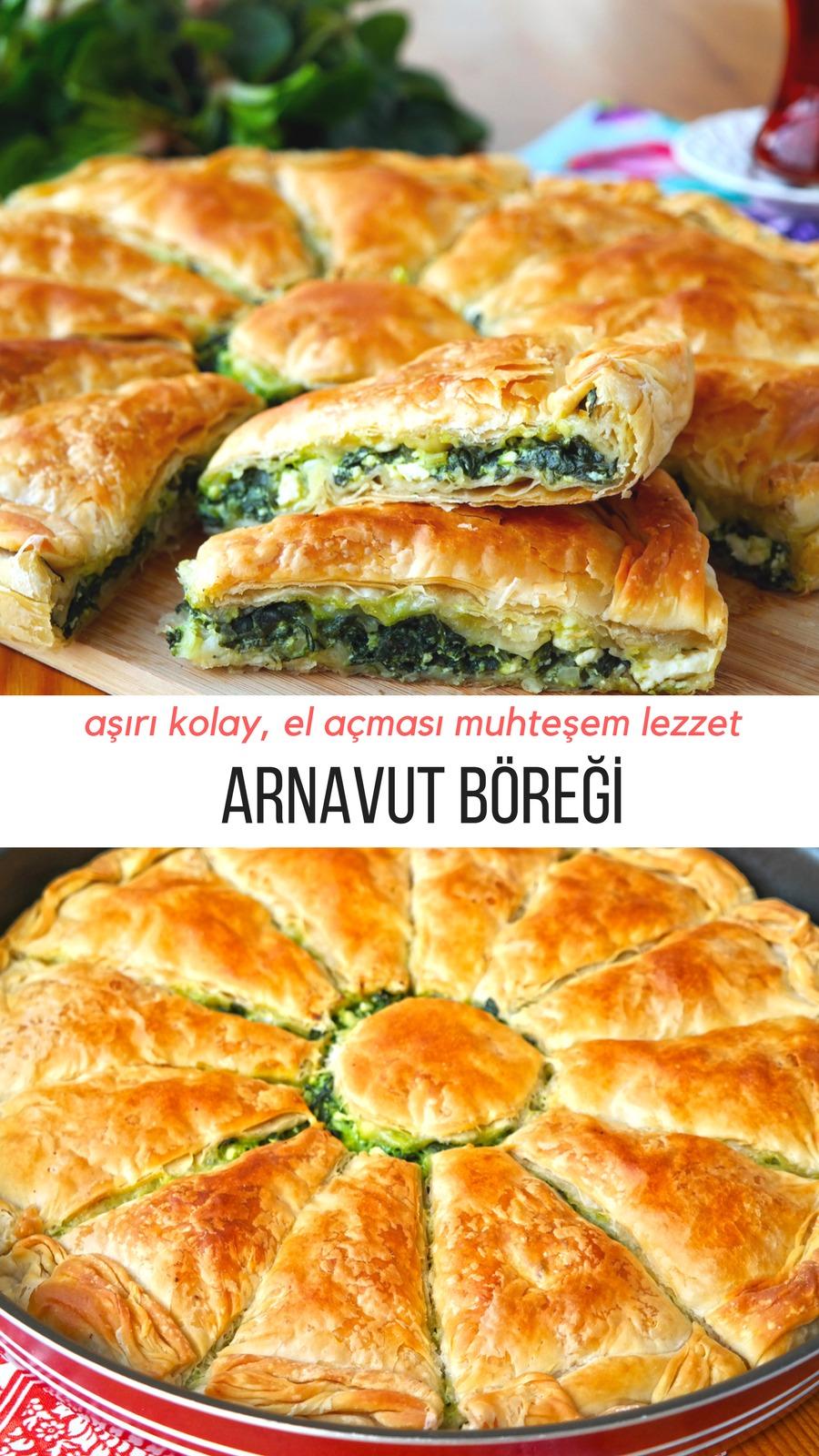 Ispanaklı Arnavut Böreği Tarifi