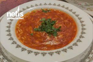 Domatesli Şehriye Çorbası Tarifi (Et Suyu İle)