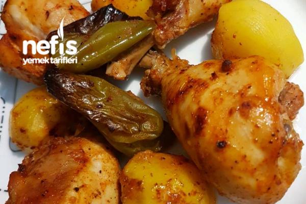 Fırında Enfes Tavuk Baget (Patatesli) Tarifi