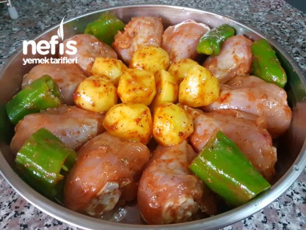Fırında Enfes Tavuk Baget (patatesli)