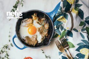 İstiridye Mantarlı Tereyağında Yumurta Tarifi