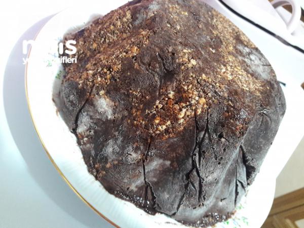 Kek Kalıbında Mozaik Pasta Dondurma Tadında