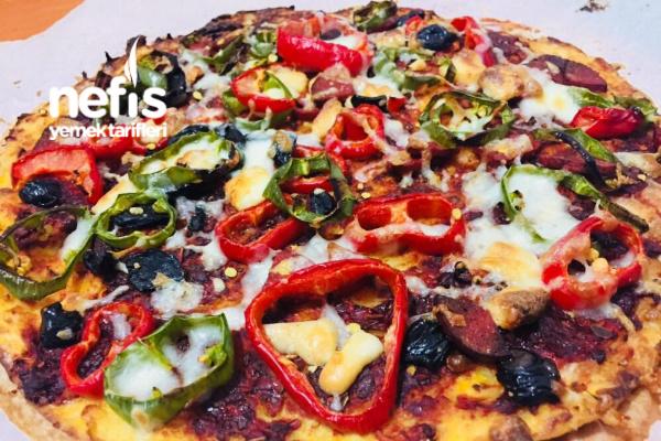 Fit Pizza (Glutensiz, Düşük Karbonhidratlı ) Tarifi