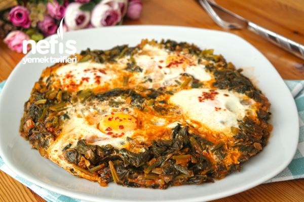 Yumurtalı Ispanak Kavurması Nasıl Yapılır? (videolu)