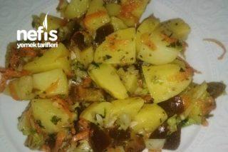 7 Malzemeyle Patates Salatası Tarifi