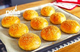 Ev Yapımı Hamburger Ekmeği Ve Eti (videolu) Tarifi