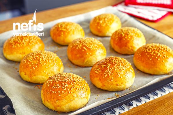 Evde Yumuşacık Hamburger Ekmeği Yapımı (videolu) Tarifi