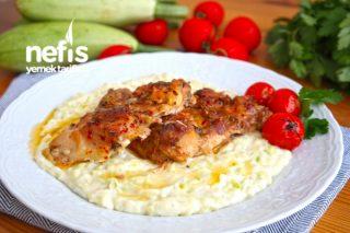 Kabak Beğendili Tavuk Pirzola (Harika bir lezzet kaçırmayın) Tarifi