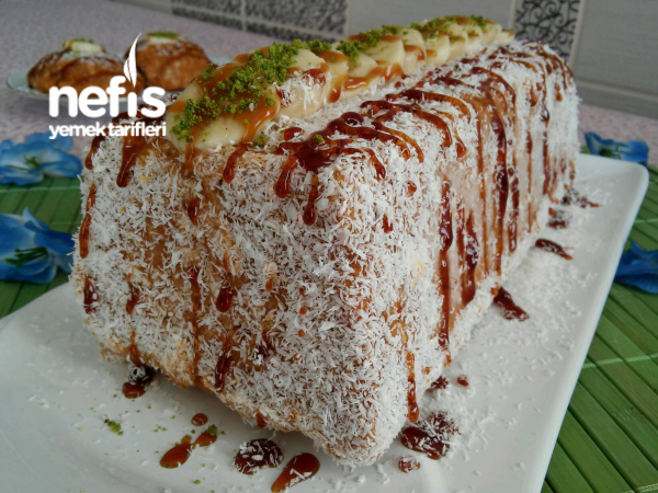 15 Dakikada Sürpriz Balkabaklı Mozaik Pasta