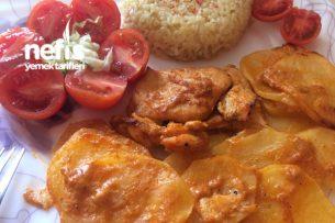Fırında Kremalı Tavuklu Patates Tarifi