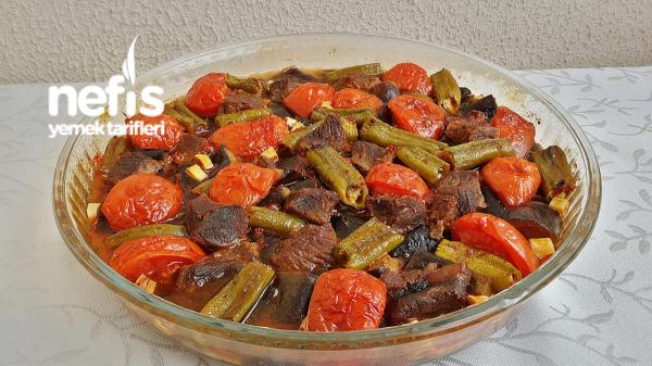 Fırında Nefis Etli Patlıcan Tava