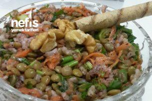 Pirinçli Yeşil Mercimek Salatası Tarifi