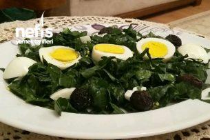 Yumurtalı Ispanak Salatası Tarifi