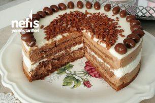 Çikolatalı-Beyaz Mousse Cake (Köpük Pasta) Tarifi