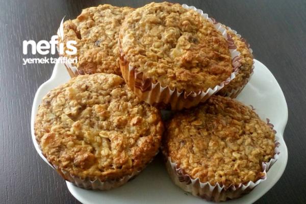 Şekersiz Yulaflı Muffin Tarifi