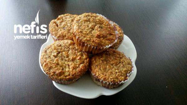 Şekersiz Yulaflı Muffin